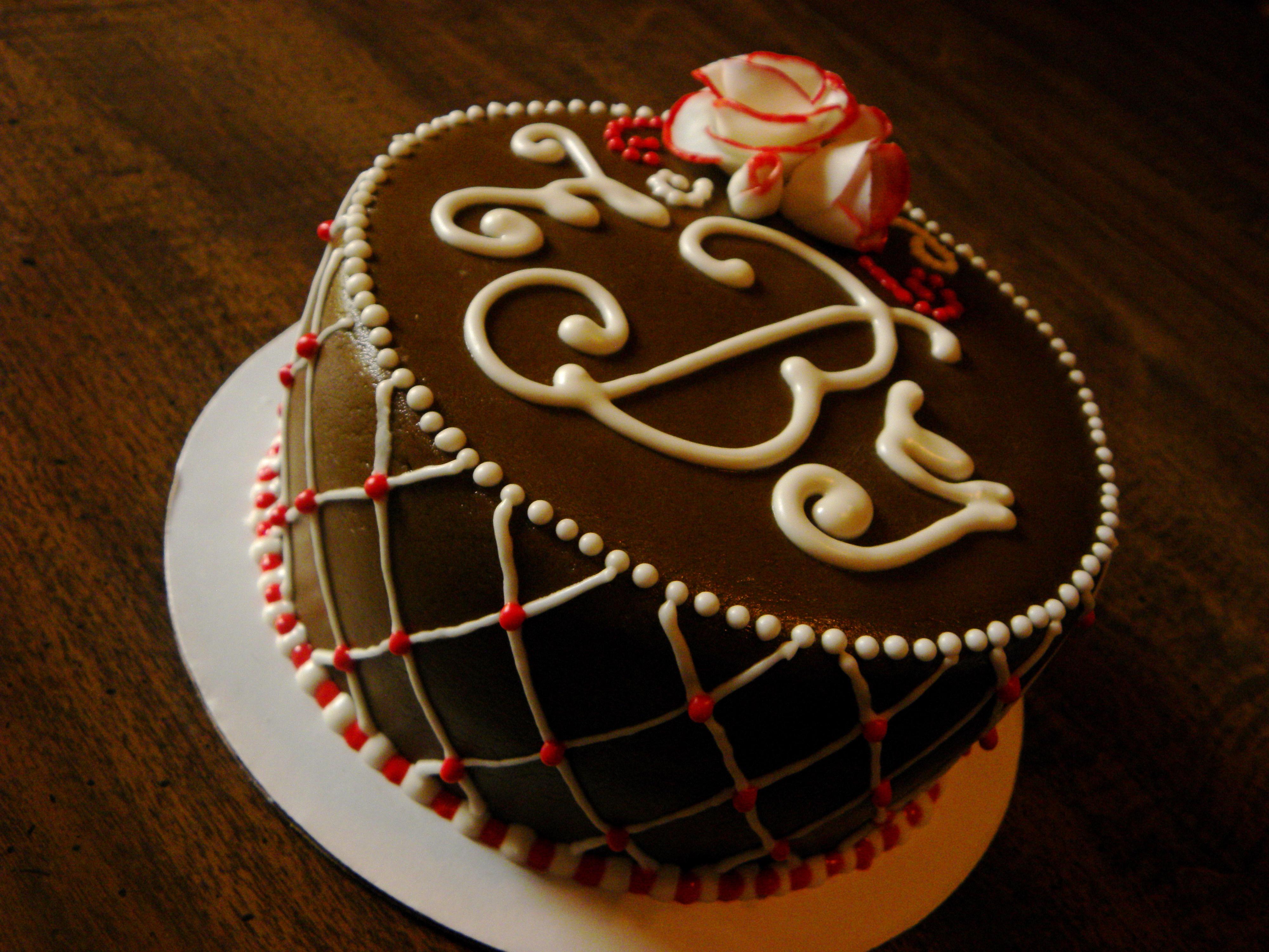 Chocolate Anniversary Cake title=